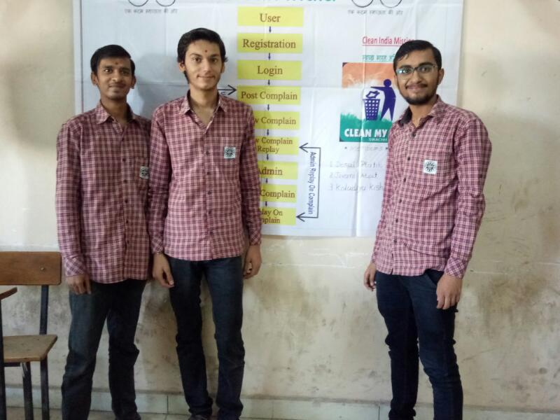 Winner in Project presentation held by B M Polytechnic event named Technovation 2K17