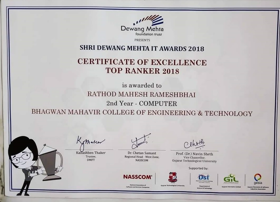 Got Devang Mehta It Award 2018