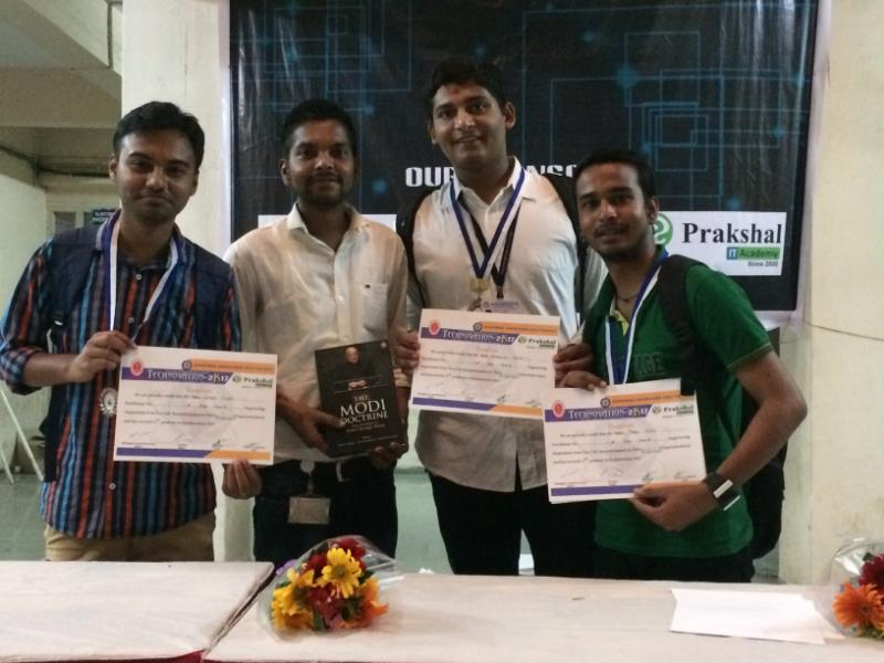 Winner in Poster presentation held by B M Polytechnic