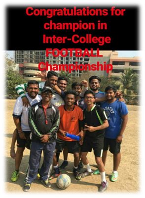 Winner in Inter-college football championship
