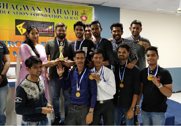 Staff from MSCET College had secured the 1st rank in Cricket sports competition BMEF Spandan 2018